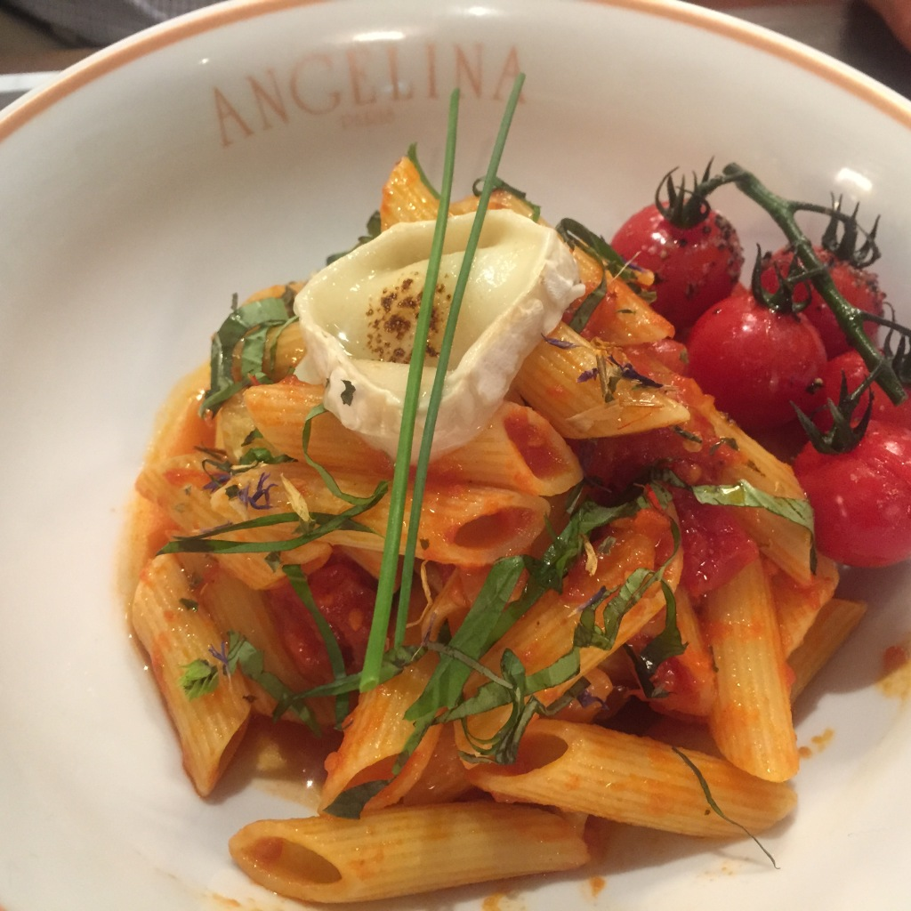 Penne, Spicy Tomatoo Concasse ~ roasted vine-cherry tomato, goat's cheese SGD 22.00